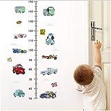 HAJKSDS Cartoon Autos Höhe Maßnahme Wandaufkleber Für Kinderzimmer Klebstoff Kinder Schlafzimmer Wachstum Chart Wandtattoos