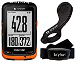 Bryton, Rider 530H, Computer Gps con Sensore Frequenza, Cardiaca, Unisex -Adulto, Nero