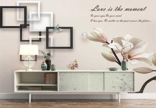 Fototapete 3D Tapeten Wandbilder Magnolie-Box Benutzerdefinierte Größe Tapete Magnolia Box