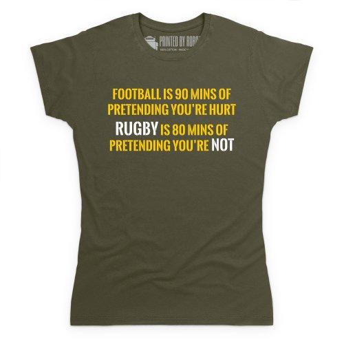 Pretend T-Shirt, Damen Olivgrn