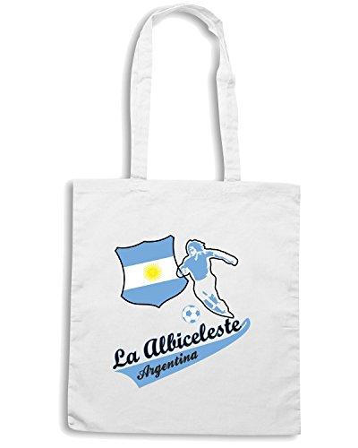 T-Shirtshock - Borsa Shopping WC0022 ARGENTINA Bianco
