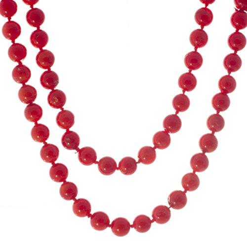 Bella Carina Damen Collier Schaum Koralle runde Perlen -