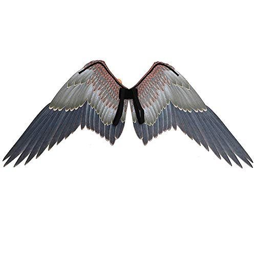 MCLseller Adlerflügel Black Angel Fairy Wings Kostüm Requisiten Performance Requisiten Karneval Erwachsene Unisex für Cosplay Festival Party Halloween (Angel Dress Up Kostüm)