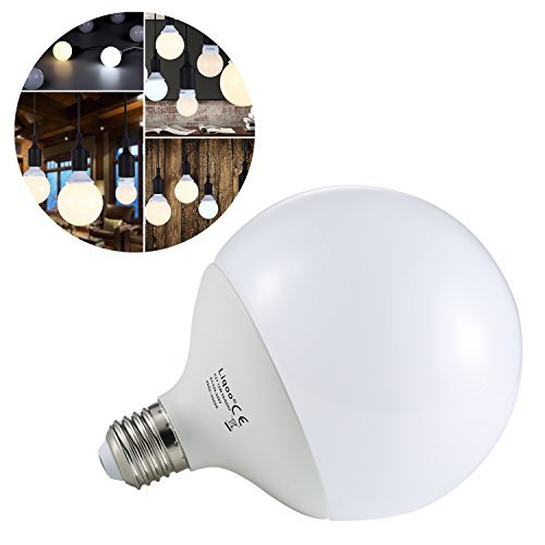 Liqoo® 15W E27 LED Lampe Globelampe Kugellampe Globusform Globe Leuchtmittel Neutralweiß 4000K, 1350Lumen Ersetzt 90W, 270º Abstrahlwinkel, 2835 SMD, Ø120 x 156mm