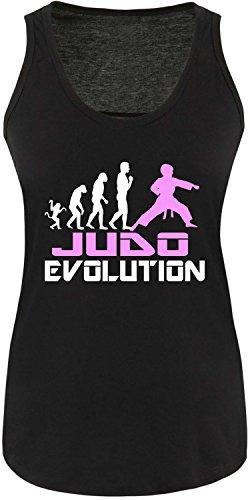 EZYshirt® Judo Evolution Damen Tanktop Schwarz/Weiss/Rosa