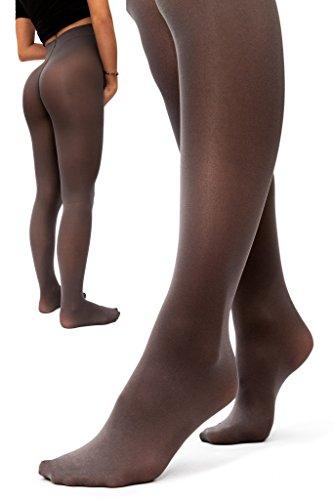 sofsy Opaque Umstandsstrumpfhose - Super komfortable Unterstützung Strumpfhosen für alle Phasen der Schwangerschaft 50 Den [Hergestellt in Italien] Grau