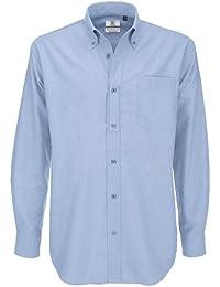 0ed766a3369 B&C - Camisa de manga larga Modelo Oxford (Tallas grandes) para Hombre  Caballero -
