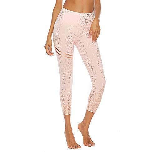 SotRong Pantalón Deportivo de Mujer Anticeluliticas Mallas Running Push up Leggings Yoga Fitness Active Wear Rosado M