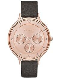 Skagen Damen-Armbanduhr Analog Quarz Leder SKW2392