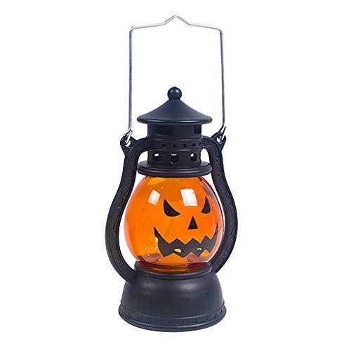 Maleya Halloween Vintage Laterne Party Hanging Decor LED Licht Lampe tragbares Nachtlicht Nachtlicht Kind Nachttischlampe Baby Kinder Stimmungslicht USB Batterie Baby-sicher Bruchsicher