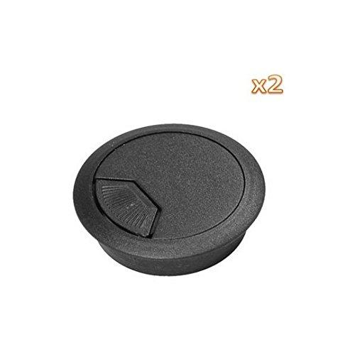 pdhu 2Kunststoff Tülle 5,1cm Kabel Loch Abdeckung PC Schreibtisch Flip Top - Flip-top-schreibtisch