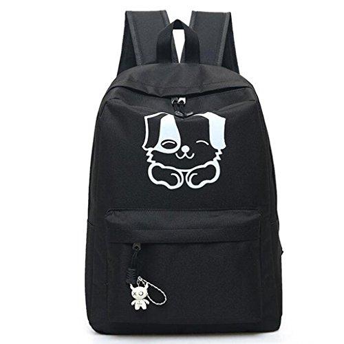 Y&F Frau Welpen Rucksack Schultertaschen Handtasche Reisetasche Rucksack 30 * 12 * 42cm Black