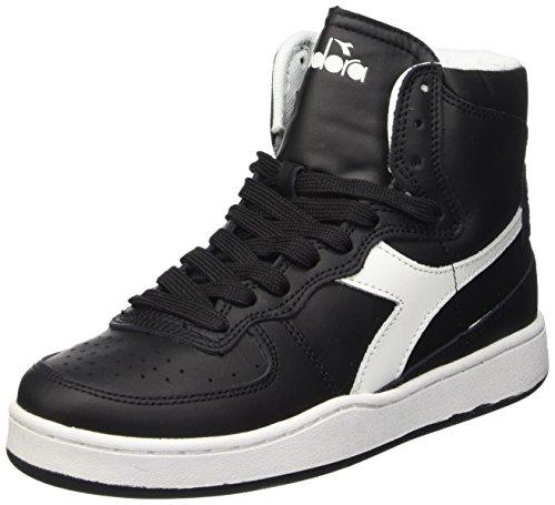 Diadora Mi Basket - Sneaker alte Unisex adulto, Multicolore (C0641 Nero/Bianco), 41