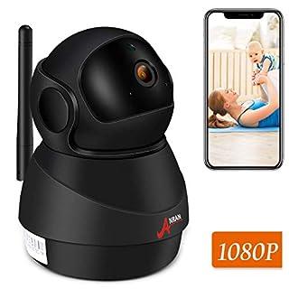 ANRAN-Überwachungskamera, IP-Kamera-drahtlose 1080P 2.4G WiFi-Überwachungskamera für Baby-/ Ältesten-/ Haustier-,Zweiwegaudio u. Nachtsicht, Bewegungs-Abfragung, Telefon APP, stützen Mikro-Sd-Karte