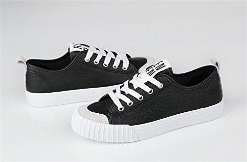 ALUK- Printemps et l'art d'automne chaussures blanches classiques étudiants coréens chaussures plates ( couleur : Blanc , taille : 35 ) Noir