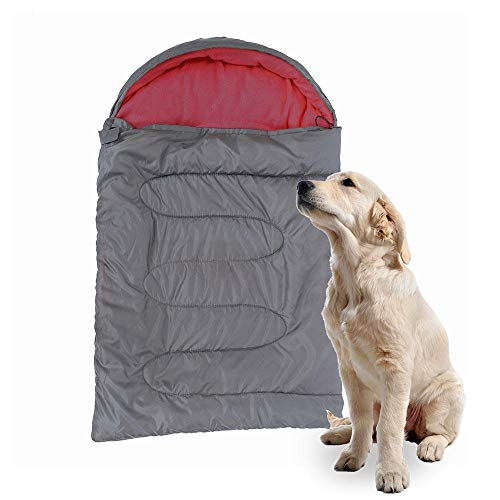 TEEPAO Großer Schlafsack für Hunde, Wasserdichte Pet Outdoor Bett Weiche Zwinger Matte mit Tragbaren Aufbewahrungstasche für Reise Camping Wandern, Verschleißfest - 115 x 74cm