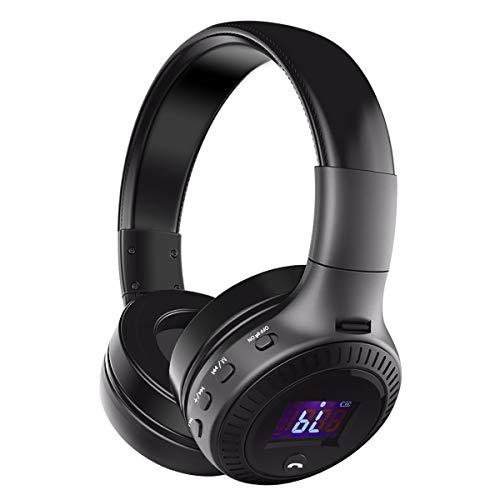 Bluetooth Kopfhörer, ELEGIANT Bluetooth 4.0 Stereo Headset On Ear Kopfhörer mit Digital Display 4 Modi Freisprechfunktion + Mic/ FM Radio/ TF SD Karte Slot/ 3,5mm Audio AUX - 9