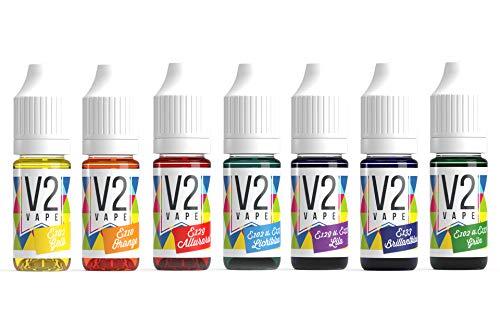 V2 Vape Lebensmittelfarbe Set Ostern 7x 10ml zum Färben von Aromen und Lebensmitteln -