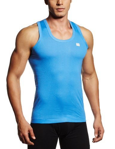 RUPA Frontline Men's Cotton Vest (890397845104 (FRONTLINE-Sky Blue-75)  available at amazon for Rs.57