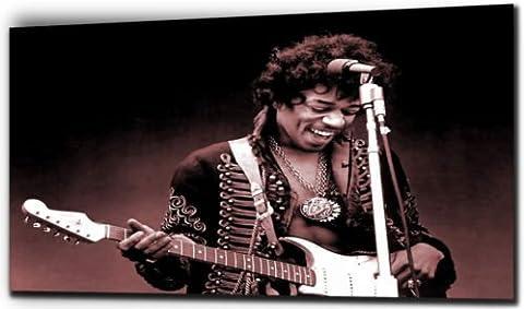 Jimi Hendrix -Canvas Print - Color: Black And White - Canvas Size: 20