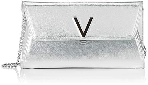 Mario Valentino Valentino by Damen Flash Clutch, Silber (Argento), 3x14x24 cm