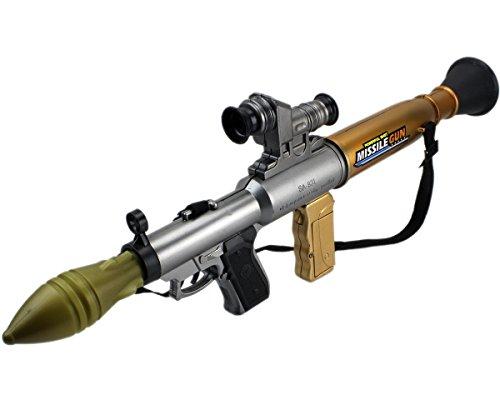 GYD Basuka Raketenwerfet Panzerbrecher mit Sound Licht und Schussfunktion!! (Kinder Spielzeug Soldaten Kostüme)