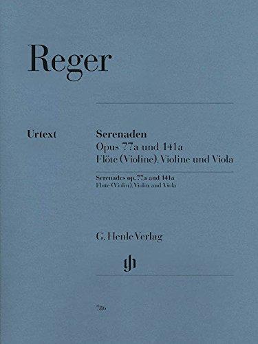 Serenade Op 77a + 141a. Flöte, Violine, Viola