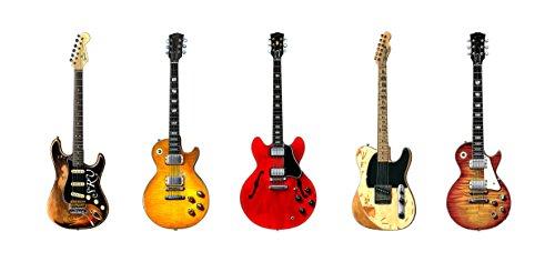 Fünf Berühmte Blues-Rock Gitarren Grußkarte, DL-Größe