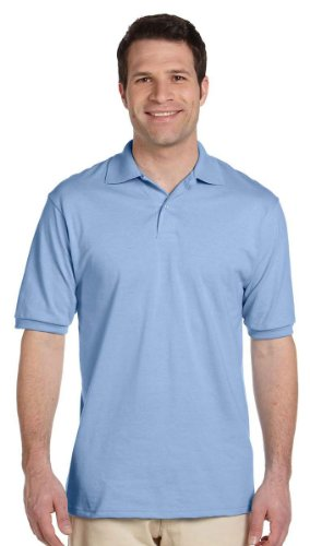Jerzees 5,6Oz. 50/50della Uomini Jersey Polo con SpotShield Blu chiaro