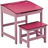 Premier Housewares–Escritorio y taburete infantil, diseño, 57x 55x 48cm, 2piezas, Blue _ Parent