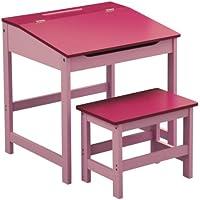 Premier Housewares 2402525 Set Scrivania e Seggiolino per Bambini, 57x55x48 cm, Rosa