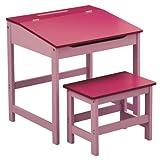 Premier Housewares Kinder Schreibtisch-Set, mit Tisch und Stuhl, 57x55x48cm, 2-teilig Rose