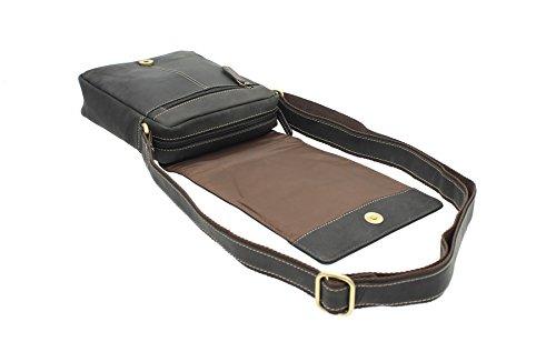 Visconti Leder Messenger-Tasche / Reisetasche, kompakt S7 so Öl braun