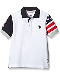US Polo Association Flag Sleeve Ss, Polo para Niñas