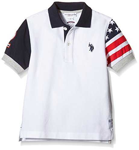 us-polo-assn-flag-sleeve-ss-pole-mixte-enfant-blanc-bianco-100-taille-3
