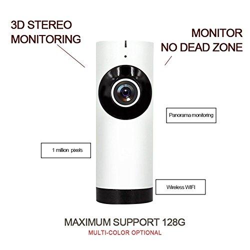 Videocamera sorveglianza wifi ip camera senza fili, 1.0 megapixel wireless webcam, visore notturno day&night telecamera di sicurezza con audio a due vie? motion detect alert