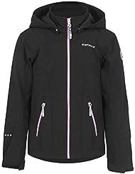 ICEPEAK Niños chaqueta Reina Jr, otoño/invierno, infantil, color negro, tamaño 164