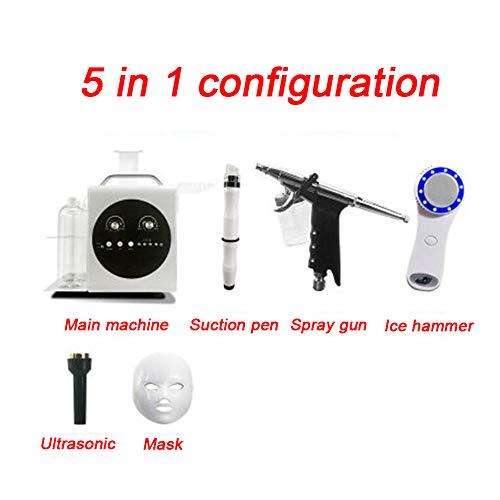 AKAKKSKY Gesichtspflege-Maschine Sauerstoffmaschine Hautpflege 9-in-1 Multifunktion Kleine Blase Hautreiniger Straffende Falte Beauty-Gesichtsbehandlung Sprühen,5functions - Multifunktions-gesichtsbehandlung-maschine