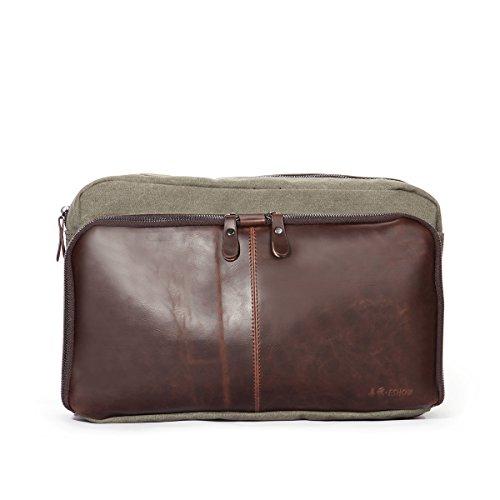 22076c9db2ff3 Eshow Borse a tracolla da uomo di tela a mano Multifunzione per viaggio  borsa shopper bag