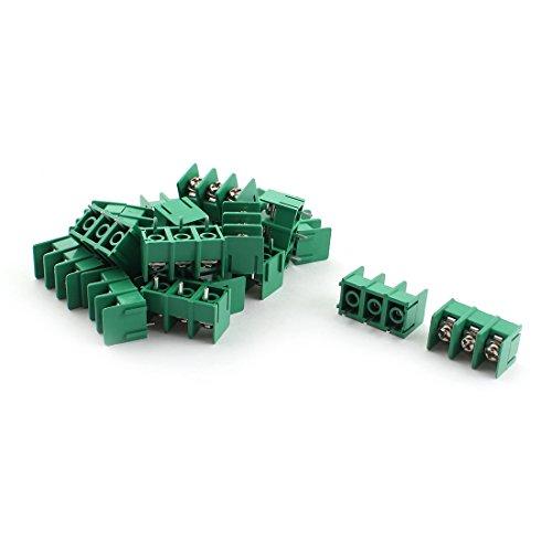 sourcingmap® 20Stk KF7,62 3Position 3 Pin 7,62mm Schraube Terminal Barrier Blocks 300V 20A