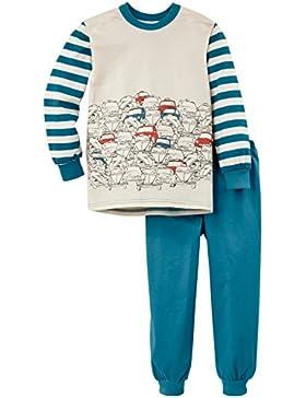 Calida Jungen Zweiteiliger Schlafanzug Pyjama Bündchen Chicken Traffic