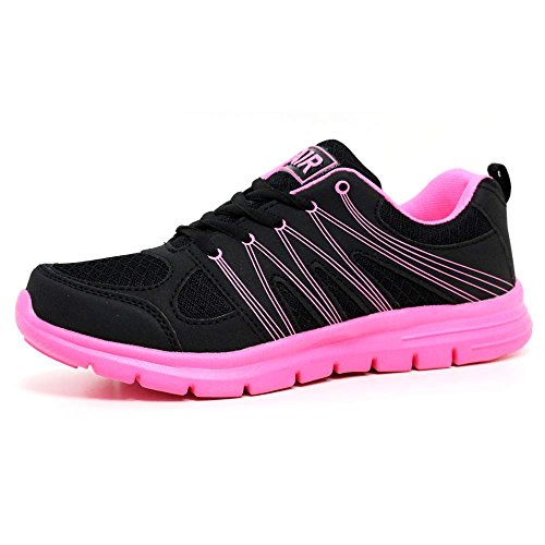 Ladies Running Trainers Air Tech Shock Absorbing Fitness Gym Sports Shoes (LADIES...
