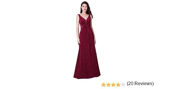 Ever-Pretty Vestito da Sera Donna Petto Basso Manica Lunga 07394