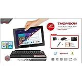 """Thomson 2EN1 Dual 10P Tablette Tactile 10.1"""" (25,8 cm) (64 Go, 1 port USB 2.0, 1 Prise jack, Noir)"""