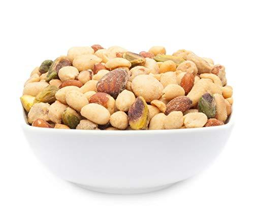 CrackersCompany 'Persian Blend' (1 x 550g in ZIP Beutel) rauchige persische Nussmischung - Nussmix aus Erdnüssen, Mandeln, Pistazien, Macadamias und Cashew mit orientalischer Gewürzmischung - Pistazien-cashew
