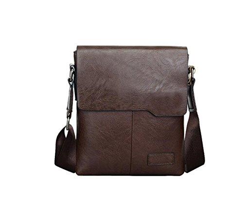 Yy.f Neue Herrenmode Wild Textur Lässige Männer Tasche Mehrzweck- Pendler-Taschen Rucksäcke Aktentasche Reisetasche Laptop-Tasche (schwarz Und Braun) Brown
