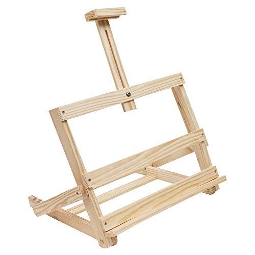 Kurtzy cavalletto da tavolo per pittura - supporto da disegno per artisti e comodo leggío - cavalletti in legno per adulti e bambini- 4 livelli regolabili cavalletto ideale per dipingere, disegnare
