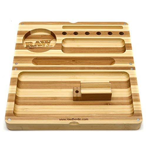 Raw?? Backflip Magnetic Bamboo Rolling Tray by Raw - Filter Tray