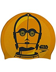 a0abd116c Speedo Slogan Print Cap AU Gorros de natación, Adultos Unisex, Gold/USA  Charcoal