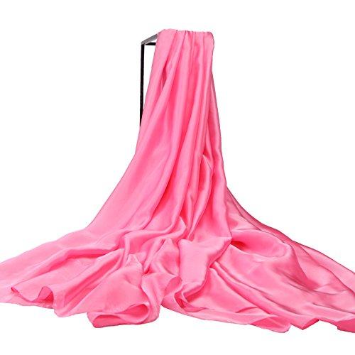 Herbst Winter Mode Frauen Eleganz Super weicher Schal Schal Europa Street Style(Baumwolle/Wolle/Garn/Seide)W-1999 (Mantel Kap Red Baumwolle)